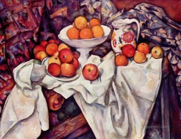 Still life Painting - Apples and Oranges Paul Cezanne Impressionism still life