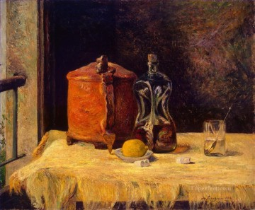 Impressionist Still Life Painting - At the Window A la fenetre Post Impressionism Paul Gauguin still life