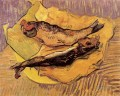Bloaters on a Piece of Yellow Paper Vincent van Gogh Impressionism still life