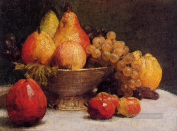 Still life Painting - Bowl of Fruit Henri Fantin Latour still lifes