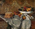 Compotier and Plate of Biscuits Paul Cezanne Impressionism still life