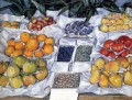 Fruit Displayed On A Stand Impressionists Gustave Caillebotte still lifes