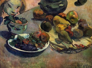 Impressionist Still Life Painting - Fruits Post Impressionism Paul Gauguin impressionistic still life