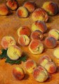 Peaches Claude Monet still lifes