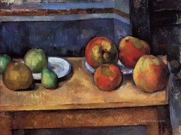 Still life Painting - Still Life Apples and Pears Paul Cezanne