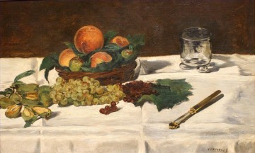Still life Painting - Still Life Fruits on a Table Eduard Manet