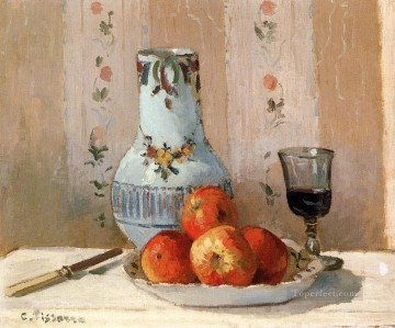 Still Life With Apples And Pitcher postimpressionism Camille Pissarro Oil Paintings