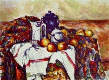 Still life Painting - Still Life with Blue Pot Paul Cezanne