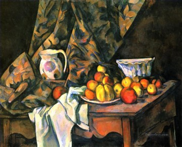 Still life Painting - Still Life with Flower Holder Paul Cezanne