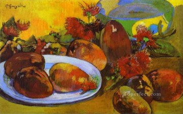 Still life Painting - Still Life with Mangoes Post Impressionism Primitivism Paul Gauguin