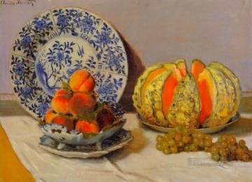 Still life Painting - Still Life with Melon Claude Monet