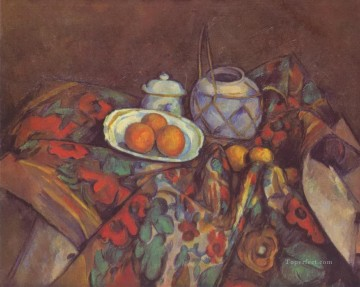 Impressionist Still Life Painting - Still Life with Oranges Paul Cezanne