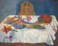 Still Life with Parrots Paul Gauguin impressionistic