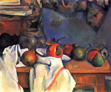 Still life Painting - Still Life with Pomegranate and Pears 2 Paul Cezanne
