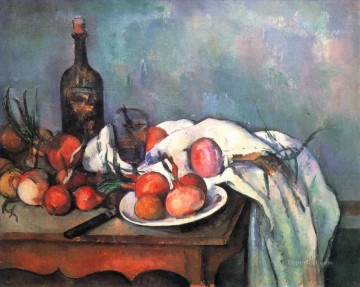 Still life Painting - Still Life with Red Onions Paul Cezanne