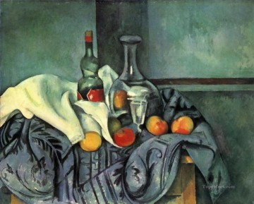 Still life Painting - Still life peppermint bottle Paul Cezanne