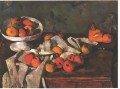 Still life with a fruit dish and apples Paul Cezanne