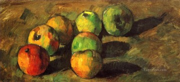 Still life Painting - Still life with seven apples Paul Cezanne