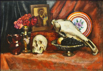 Still life with skulls Ilya Mashkov Impressionism Oil Paintings