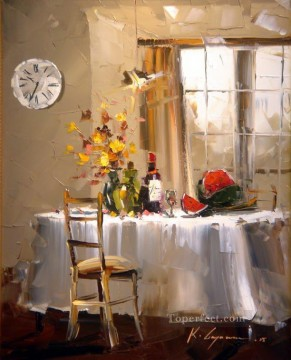 Still life Painting - Summer Evening KG Impressionism still life