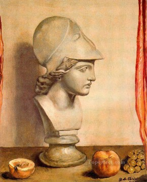 Artworks in 150 Subjects Painting - bust of minerva 1947 Giorgio de Chirico still life Impressionist
