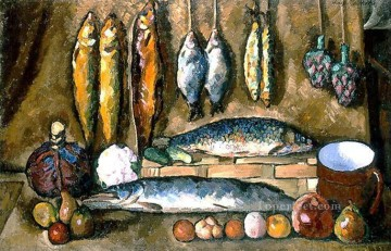 still life 1910 Ilya Mashkov impressionistic Oil Paintings