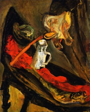 impressionist impressionism Painting - still life with fish and pitcher 1923 Chaim Soutine impressionistic