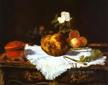A brioche Eduard Manet Impressionism still life Oil Paintings