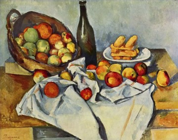 Still life Painting - Basket of Apples Paul Cezanne Impressionism still life