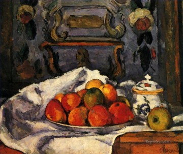 Dish of Apples Paul Cezanne Impressionism still life Oil Paintings