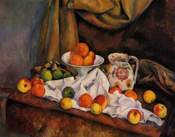 Fruit Bowl Pitcher and Fruit Paul Cezanne Impressionism still life Oil Paintings