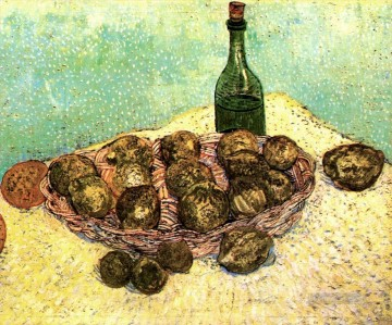 vincent van gogh Painting - Still Life Bottle Lemons and Oranges Vincent van Gogh