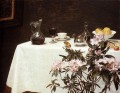 Still Life Corner Of A Table flower painter Henri Fantin Latour