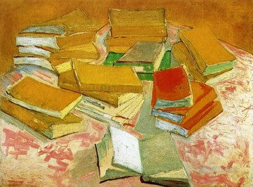 vincent van gogh Painting - Still Life French Novels Vincent van Gogh