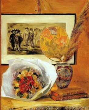 Still Life With Bouquet impressionism master Pierre Auguste Renoir Oil Paintings