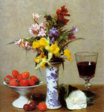Still Life flower painter Henri Fantin Latour Oil Paintings