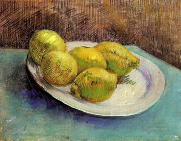 vincent van gogh Painting - Still Life with Lemons on a Plate Vincent van Gogh