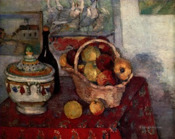 Still life Painting - Still Life with Soup Tureen 1884 Paul Cezanne
