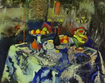 Still Life with Vase Bottle and Fruit Henri Matisse impressionistic Oil Paintings