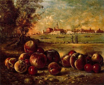 still life in venetian landscape Giorgio de Chirico Impressionist Oil Paintings