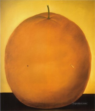 Still life Painting - Orange 2 Fernando Botero still life decor