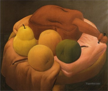 Still life Painting - Still Life with Violin 2 Fernando Botero