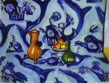 fauvism - Blue TableCloth abstract fauvism Henri Matisse modern decor still life
