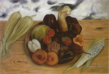 Still life Painting - Fruits of the Earth Frida Kahlo still life decor