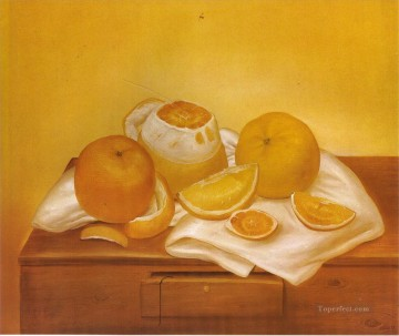 Still life Painting - Oranges Fernando Botero still life decor