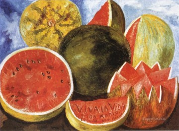 Still life Painting - Viva la Vida Watermelons Frida Kahlo still life decor