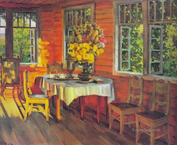 august evening last ray ligachevo 1948 Konstantin Yuon modern decor still life Oil Paintings