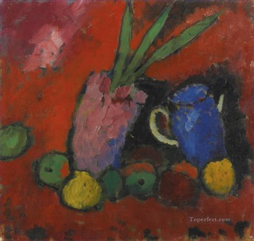 still life 1912 Alexej von Jawlensky modern decor Oil Paintings
