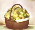 Fruit Basket Fernando Botero still life decor