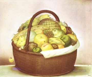 Fruit Painting - Fruit Basket Fernando Botero still life decor